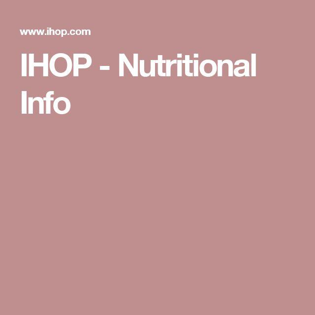 IHOP - Nutritional Info