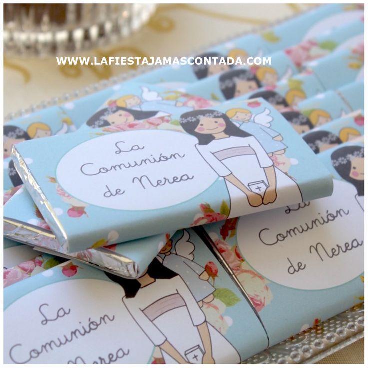 IDEAS COMUNION CHOCOLATINAS PERSONALIZADAS