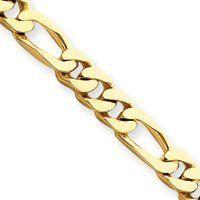 14k 6.75mm Polished Fancy Link Bracelet - 8 Inch - Lobster Claw - JewelryWeb JewelryWeb. $2805.50. Save 50%!