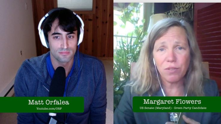 Margaret Flowers - Green Party US Senate (MD) Candidate - livestream int...