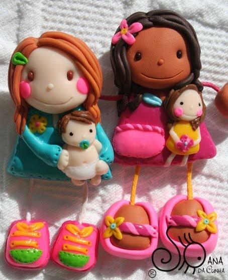 Mundo das Bonecas * Joana da Cunha: Bonecas de Fimo com pregadeira vão para a Creche - Berçário