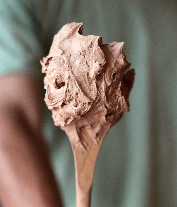 Fluffy Chocolate Buttercream ~ Only 2 ingredients for the easiest and most delicious chocolate buttercream ever!