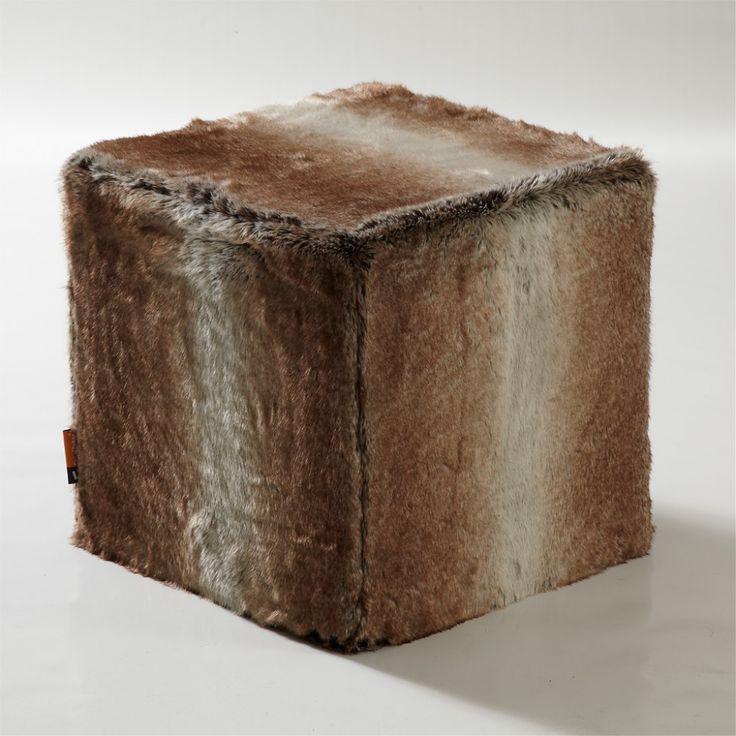 CubeMaker® - Wildfuchs Designcube Sitzwürfel. #fell #fur #cube #furniture #möbel #design #wildfuchs #fox