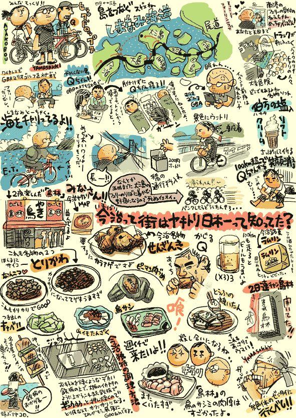しまなみ焼鳥絵巻の画像:山崎絵日和 黎明編