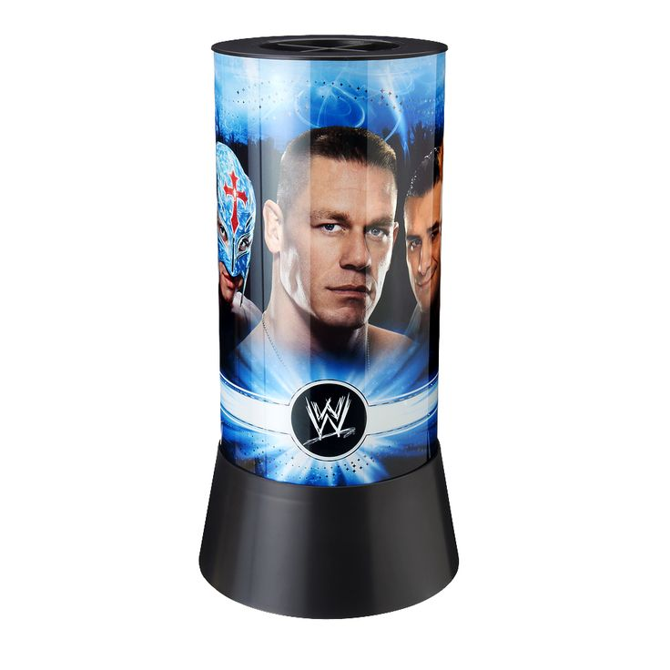 Light up the room with the Official WWE Collage Spinning Lamp!