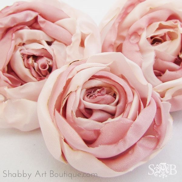 DIY Fabric Peonies---May have to try this style.