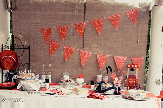 sweet table far west birthday / by Baby pop's party and pics by Modaliza