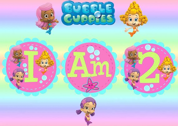 Bubble Guppies Party Printables Free | Printable Bubble Guppies Highchair Banner (Instant Download) by Amanda ...