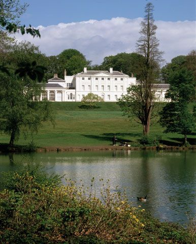 Kenwood House, Hampstead, London. Dating from the early 17th century when it was known as Caen Wood House, former stately home, open to the public