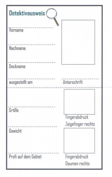 Detektivausweis - Kinderspiele-Welt.de