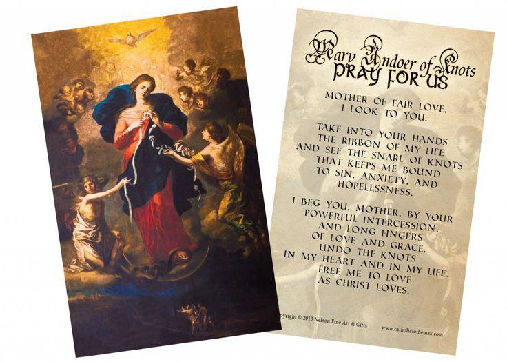 Mary Undoer Of Knots Catholic Prayers Pinterest