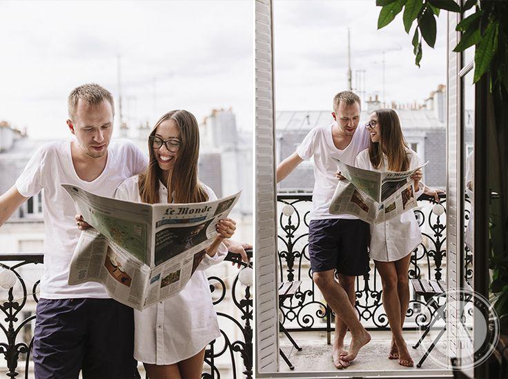 http://dreameyestudio.pl/  #paris #newspaper #smile #love #romantic #dreameyestudio #engagement