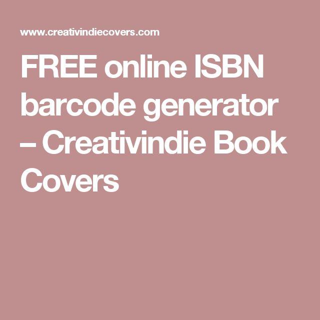 FREE online ISBN barcode generator – Creativindie Book Covers
