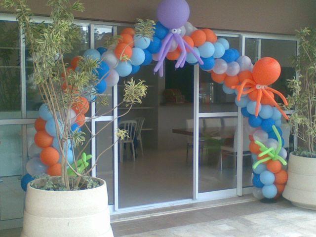 Decoração com balões - Decoração Infantil e Buffet Infantil a domicilio