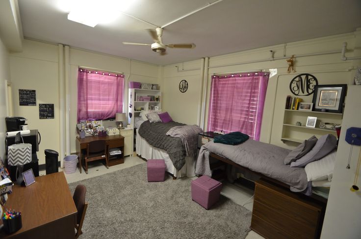 The Two Student Rooms In Highland Hall Are Spacious With Suite Style Bathrooms Lsu Pinterest