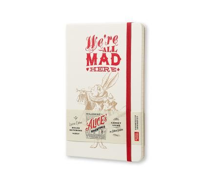Limited Edition Notebook Alice - Ruled - Large - Hard Cover White - Moleskine ®