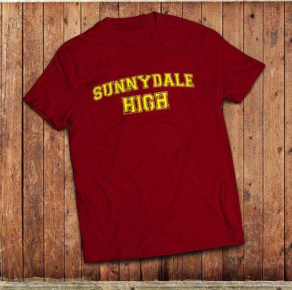 Sunnydale High T-Shirt. inspired by Buffy the Vampire Slayer, High School sports shirt.