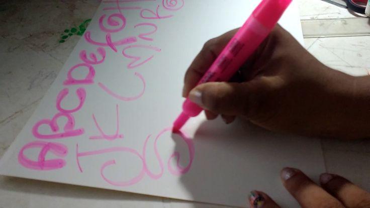 Cómo hacer letra Timoteo paso a paso. En Abecedario y con colores y diseño.