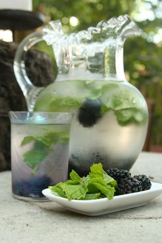 Berry and mint~
