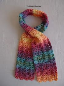Free crochet patterns and DIY, crochet charts: Gorgeous Toddler Scarf