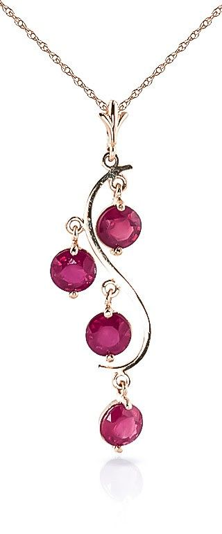 9ct Rose Gold Dream Catcher Necklace with 2.0ct Ruby Pendant
