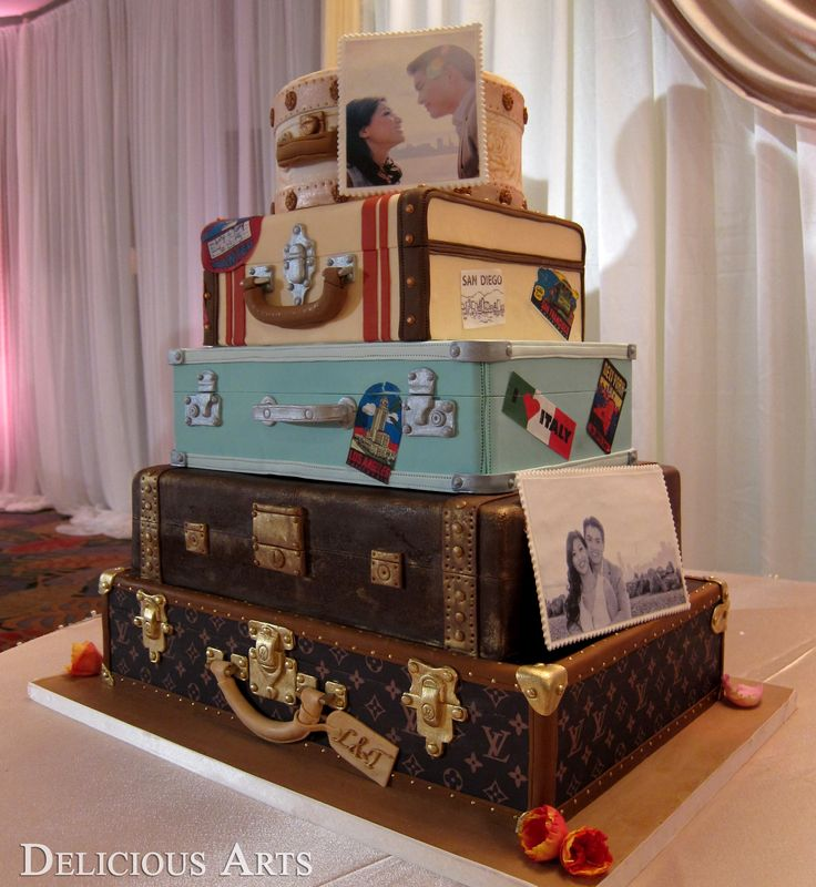 25 best Suitcase cakes images on Pinterest | Suitcase cake ...