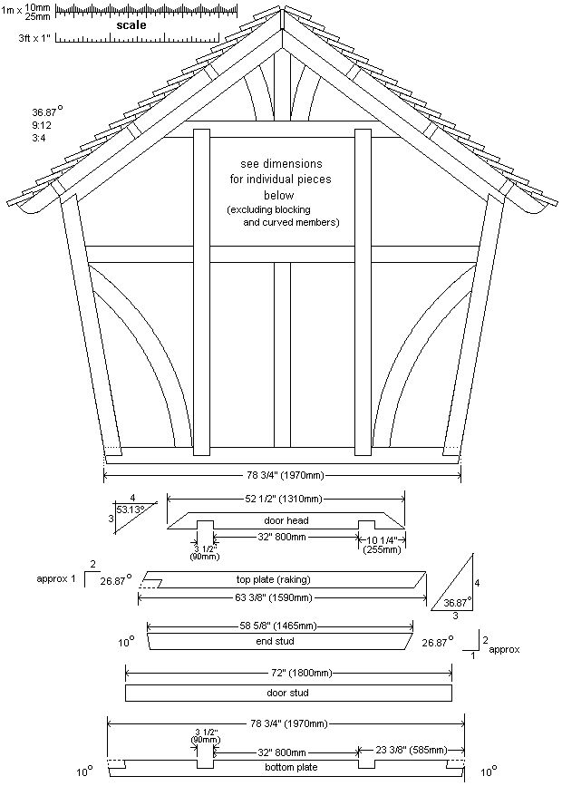 rear wall-frame plan