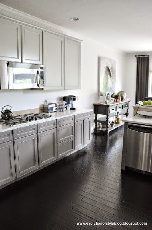 Painted Cabinets in Repose Gray and Gauntlet Gray in 2020 ...