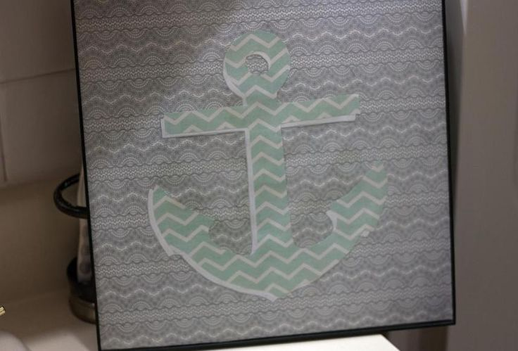 Any simple DIY wall art is definitely worth trying, this is no exception. Read this step by step how-to for making an anchor wall art piece! @diyjustcuz