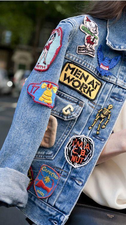 Denim jacket + patches. @thecoveteur: