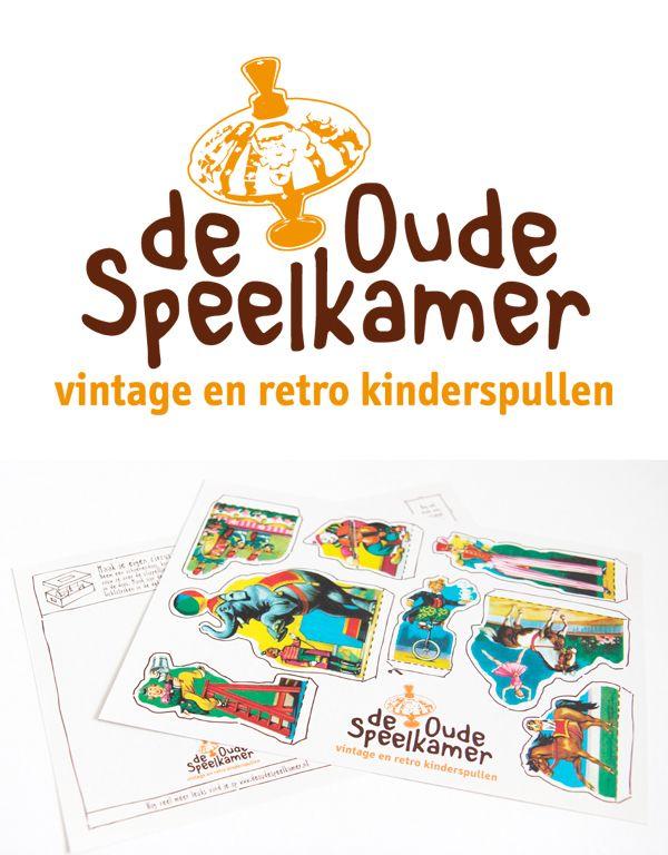 Ontwerp logo en huisstijl voor de Oude Speelkamer. Webshop voor vintage en retro kinderspullen.