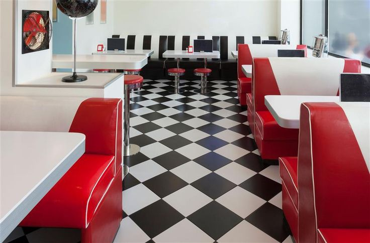 Black & White Self Adhesive Vinyl Tile - Low Cost Flooring