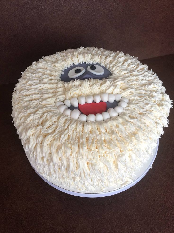 Bumble the abominable snowman cake! Super fun!!