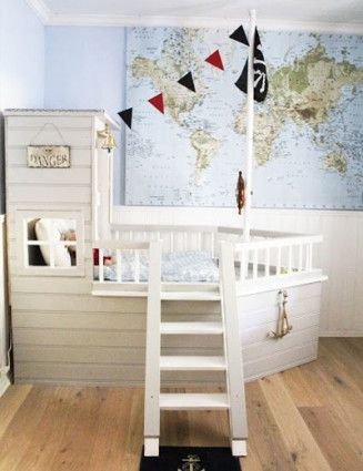 25 best ideas about piratenschiff bett auf pinterest piraten schlafzimmer kinder - Kamer voor jaar oude jongen ...