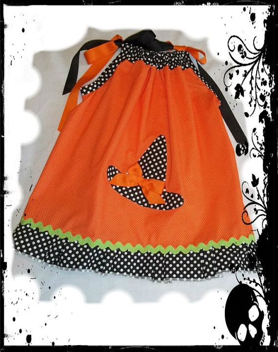 Little girl halloween dress pillowcase dress by LittleGirlsDresses, $14.00