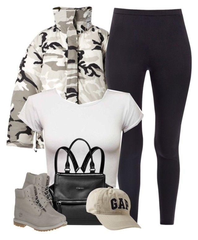 """""""1357 . Gap"""" by cheerstostyle ❤ liked on Polyvore featuring Vetements, PINGHE, Givenchy, Timberland and Gap"""