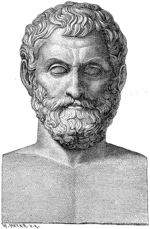 "Thales of Miletus c.624 – c.546 BC was a pre-Socratic Greek philosopher from Miletus in Asia Minor and one of the Seven Sages of Greece. Many, most notably Aristotle, regard him as the first philosopher in the Greek tradition. Aristotle reported Thales' hypothesis about the originating principle of nature and the nature of matter – that it was a single material substance: water.  According to Bertrand Russell, ""Western philosophy begins with Thales."" Thales attempted to explain natural…"