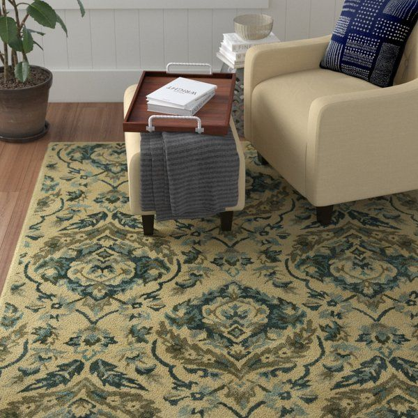 Best Place To Buy Katlyn Hand Tufted Sand Bluebell Area Rug By