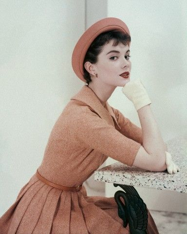 Model photographed by Frances McLaughlin-Gill, 1954