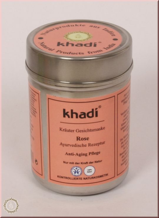 khadi herbal face pack rose - Soak the required amount of Khadi face mask Rose in rose water, plain water or milk for a few minutes for the rose petals to absorb the moisture. You can add a spoon or two of honey to the mixture as well. Apply the paste on face, neck, shoulders,arms and on the top of your hands. Leave for 10-15 minutes for the pack to dry. Not longer. Splash with rose water or plain water and gently rub to exfoliate. Rinse off.