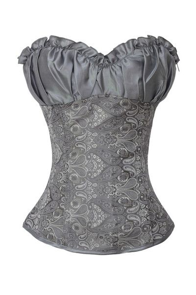 Burlesque Clothing | Grey Brocade Style Corset Awww hell!! LOVE!!!