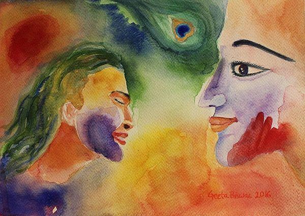 #holi #hindu #festival #art #painting #watercolor #conceptart #contemporaryart #fineart #original #watercolorportrait #portrait #printUSD27