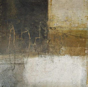 Rebecca Crowell - Element #2 - 2014, oil and mixed media on panel, 12 x 12 inches
