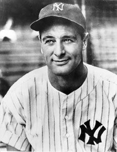 Of all the players in baseball history, none possessed as much talent and humility as Lou Gehrig. His accomplishments on the field made him an authentic American hero, and his tragic early death made him a legend. What a good looking guy