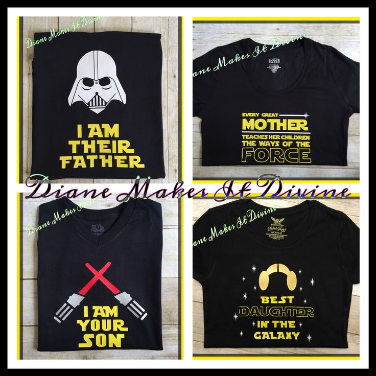 A personal favorite from my Etsy shop https://www.etsy.com/listing/294821181/star-wars-family-shirts-matching-disney