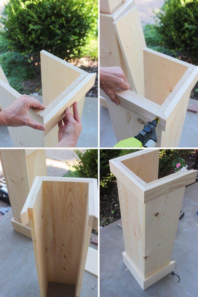 DIY Handwerker Stil Veranda Spalten – #DIY #Handwe…