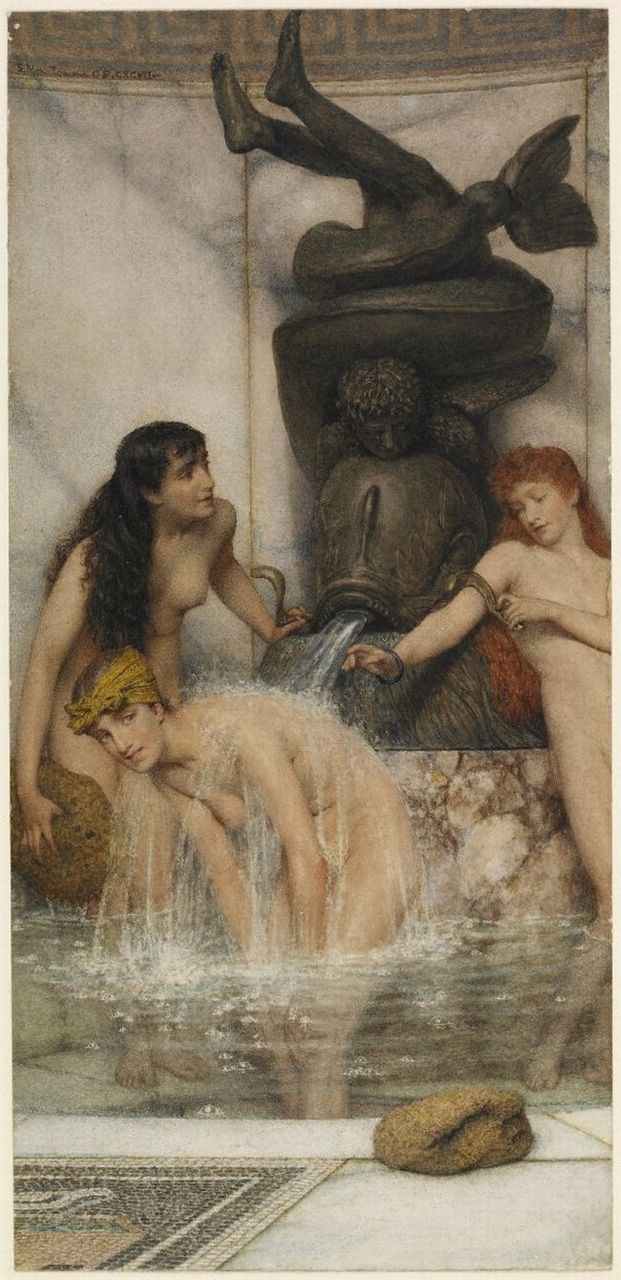 Strigils and Sponges by Lawrence Alma-Tadema, 1879