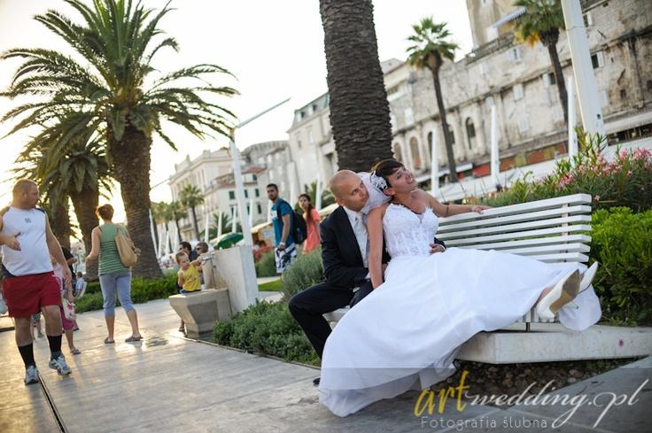 Plener Ślubny w Chorwacji - Split - Deptak    #Croatia #Chorwacja