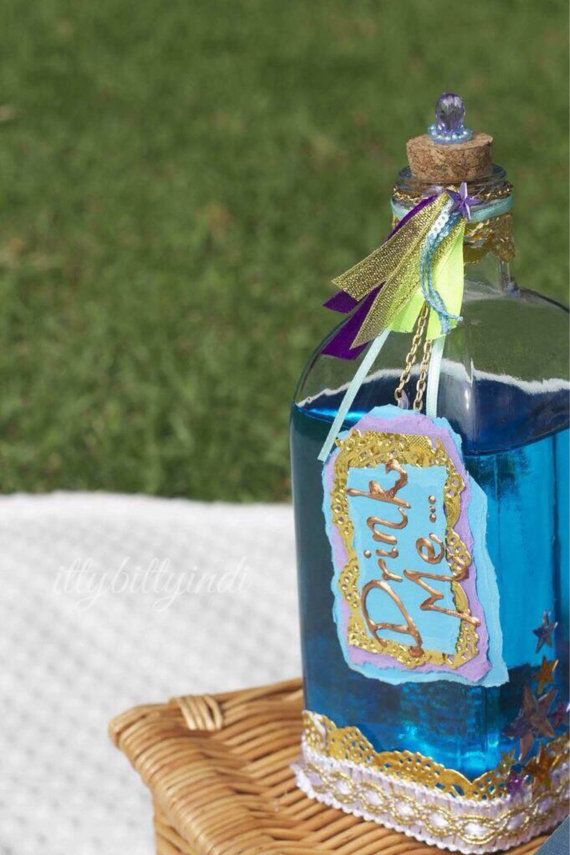 Alice in Wondland oversized Drink Me bottle party by EverTheDream