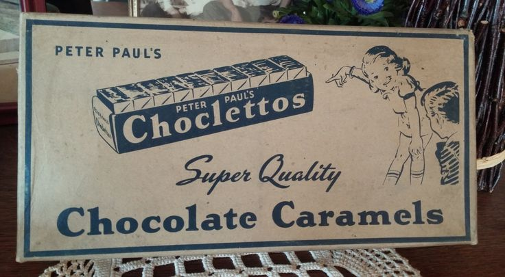 1950s  Candy Bar Display Box Peter  Pauls Mounds Choclettos Chocolate Caramels Super Quality by CalliCatVintage on Etsy